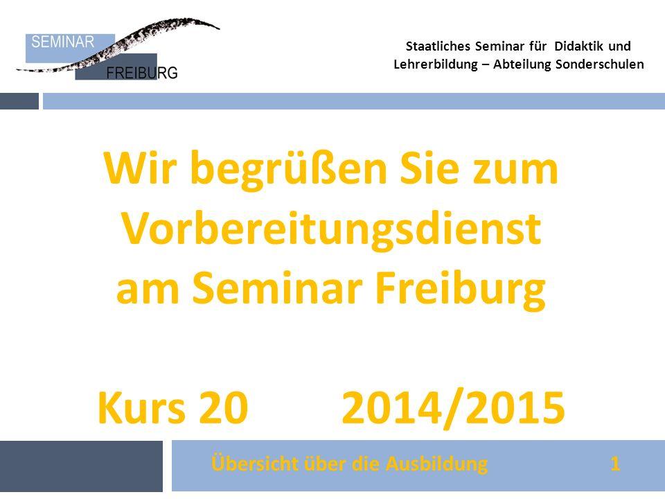 Wir begrüßen Sie zum Vorbereitungsdienst am Seminar Freiburg
