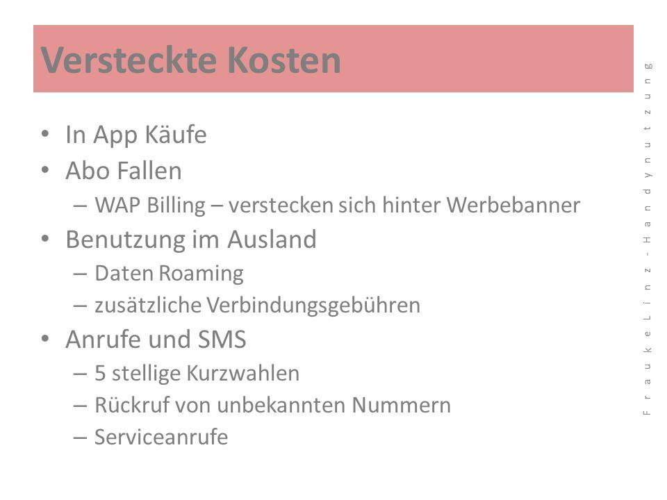 Versteckte Kosten In App Käufe Abo Fallen Benutzung im Ausland