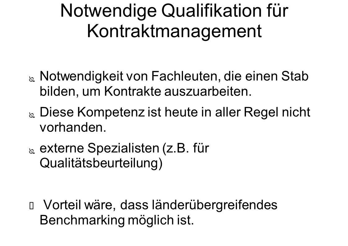 Notwendige Qualifikation für Kontraktmanagement