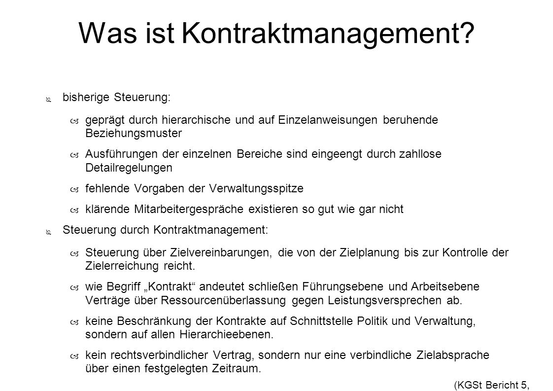 Was ist Kontraktmanagement
