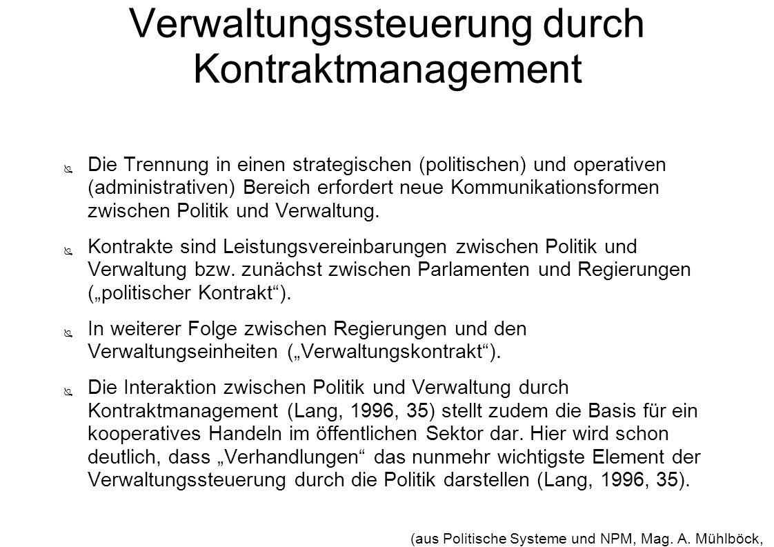 Verwaltungssteuerung durch Kontraktmanagement