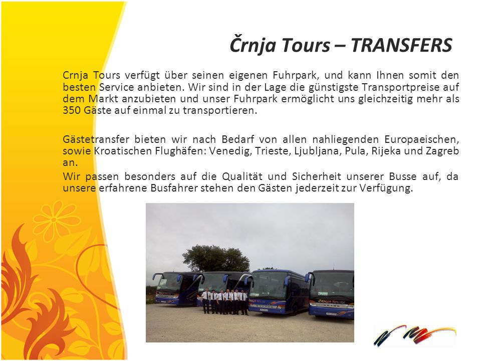 Črnja Tours – TRANSFERS