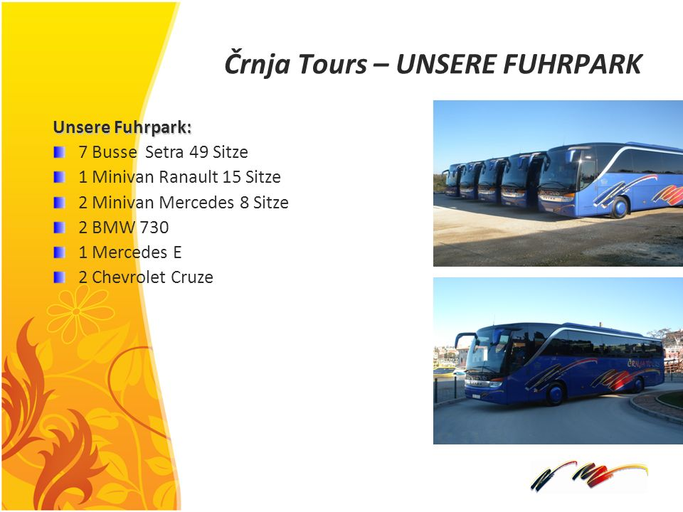 Črnja Tours – UNSERE FUHRPARK