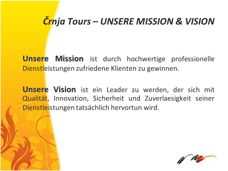 Črnja Tours – UNSERE MISSION & VISION