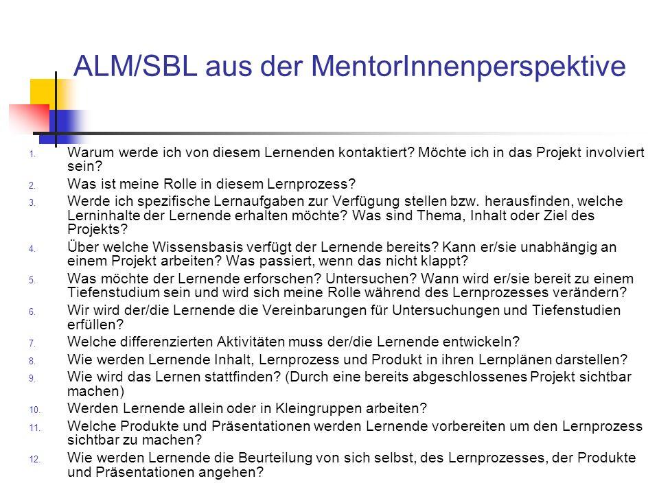 ALM/SBL aus der MentorInnenperspektive