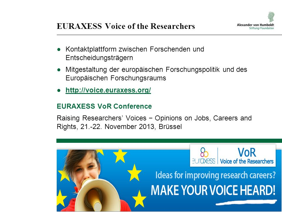 EURAXESS Voice of the Researchers
