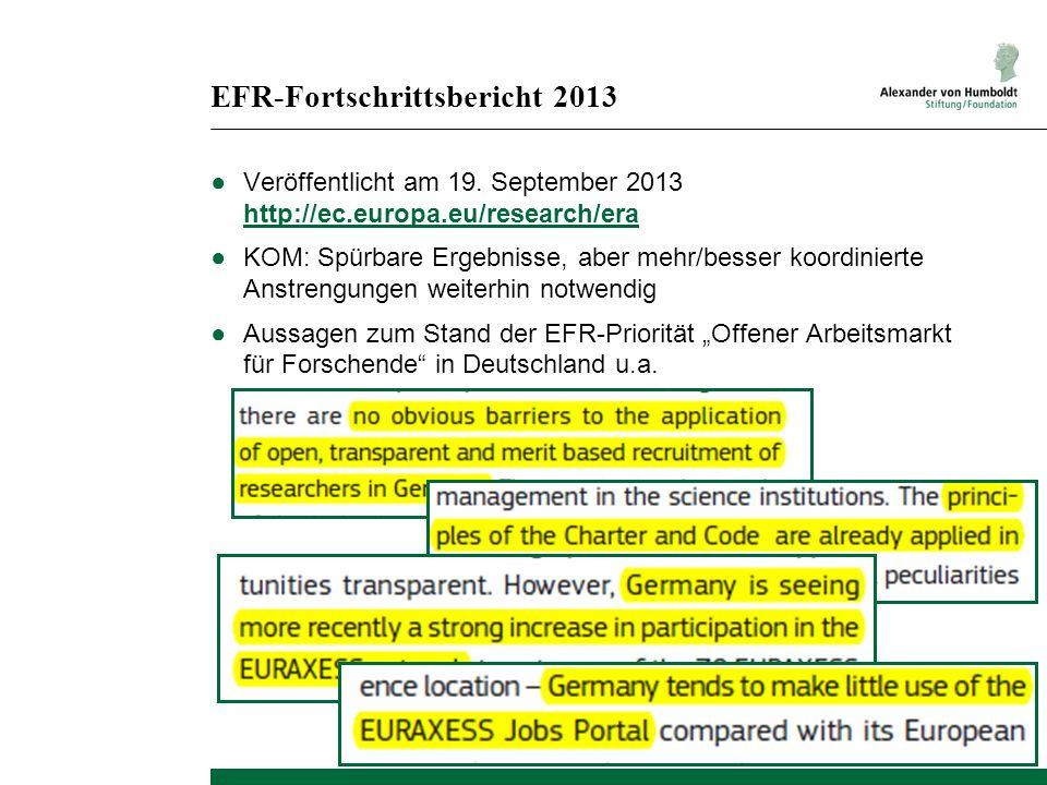 EFR-Fortschrittsbericht 2013
