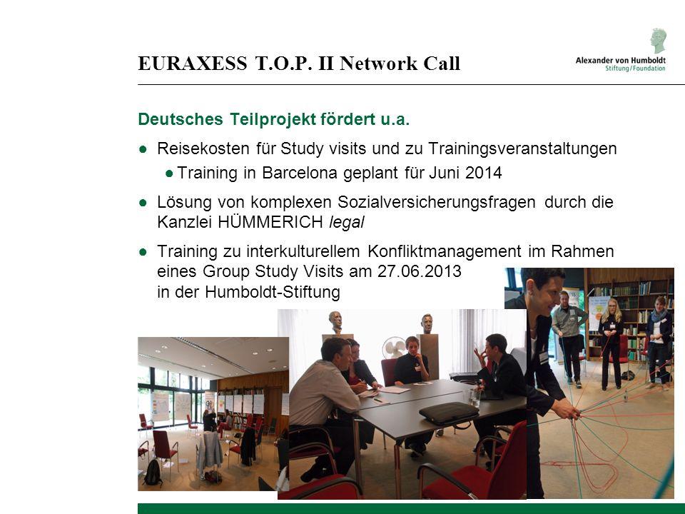 EURAXESS T.O.P. II Network Call
