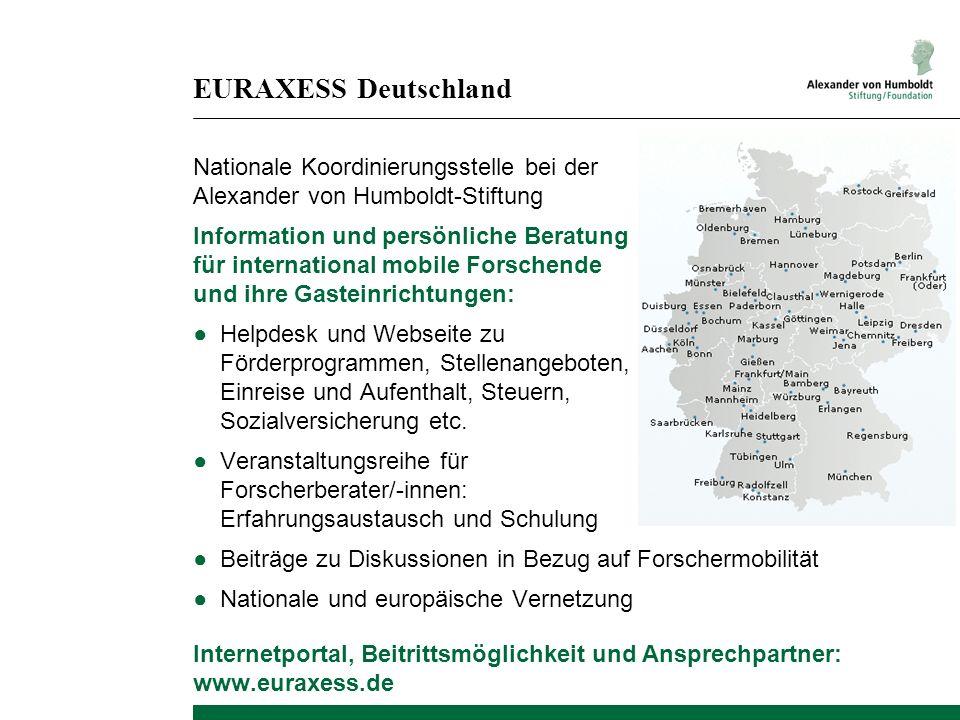 EURAXESS Deutschland Nationale Koordinierungsstelle bei der Alexander von Humboldt-Stiftung.
