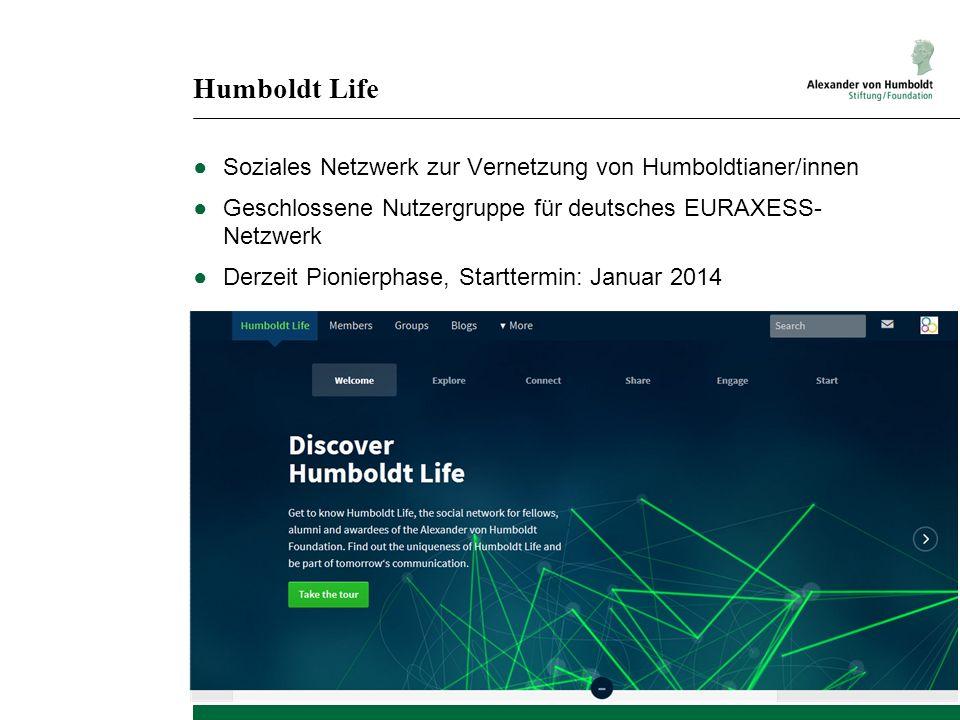 Humboldt Life Soziales Netzwerk zur Vernetzung von Humboldtianer/innen