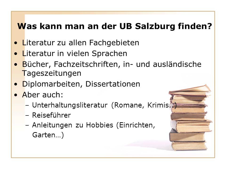 Was kann man an der UB Salzburg finden