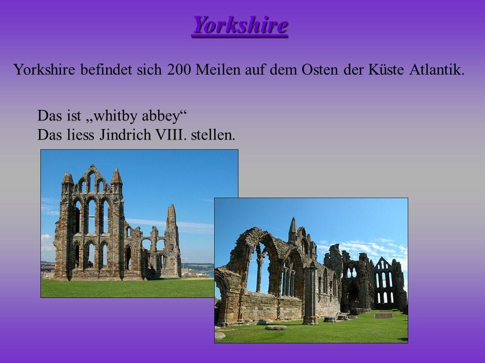 """Yorkshire Yorkshire befindet sich 200 Meilen auf dem Osten der Küste Atlantik. Das ist """"whitby abbey"""