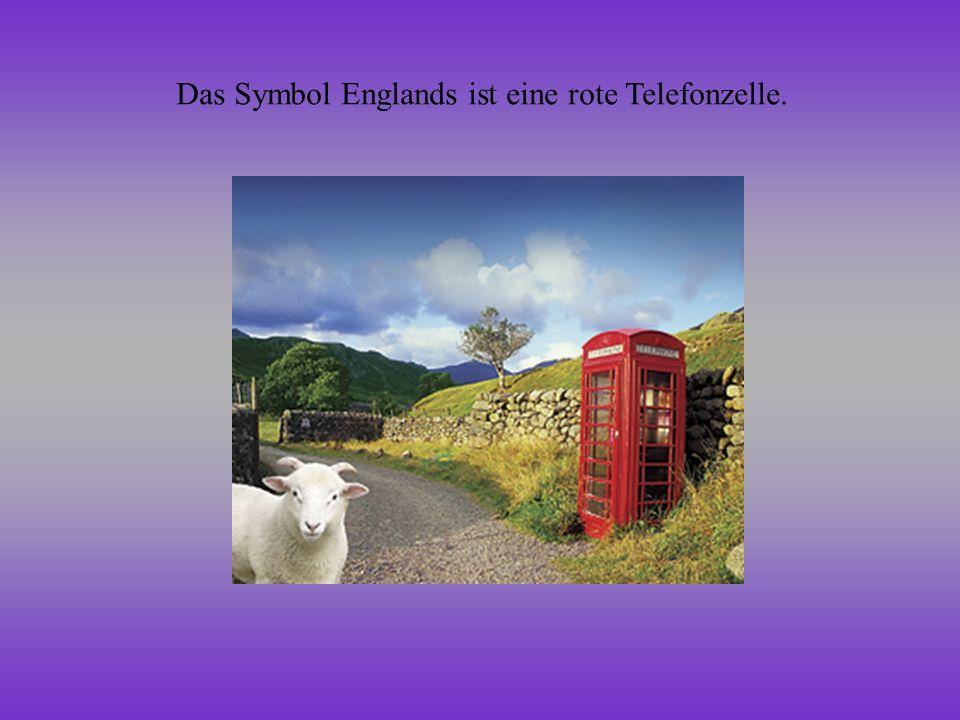 Das Symbol Englands ist eine rote Telefonzelle.