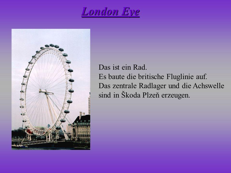 London Eye Das ist ein Rad. Es baute die britische Fluglinie auf.