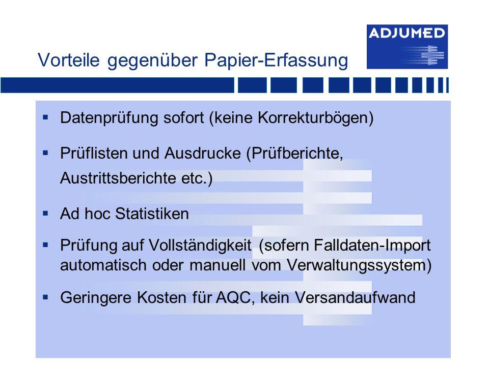Vorteile gegenüber Papier-Erfassung
