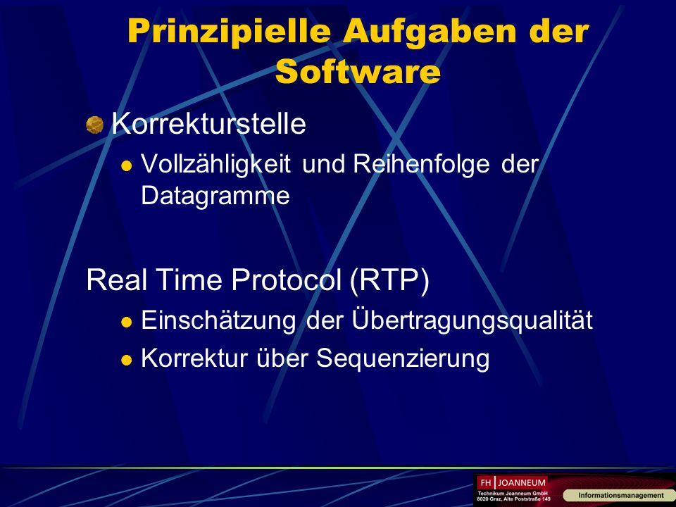 Prinzipielle Aufgaben der Software