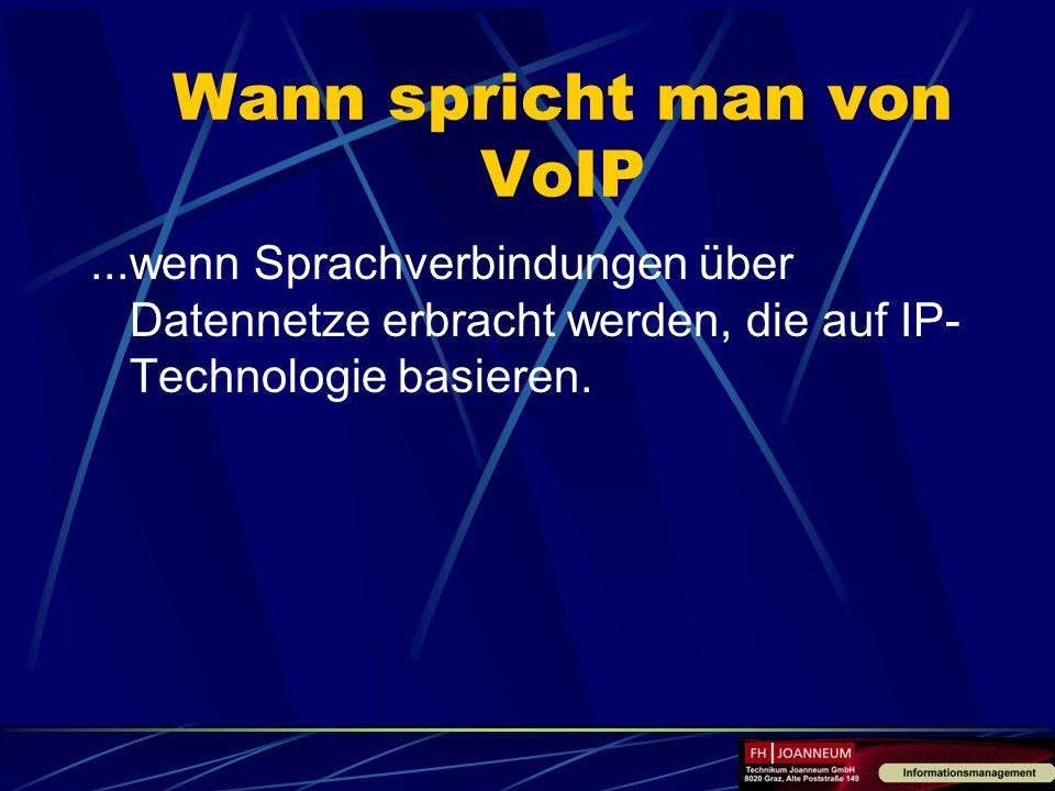 Wann spricht man von VoIP