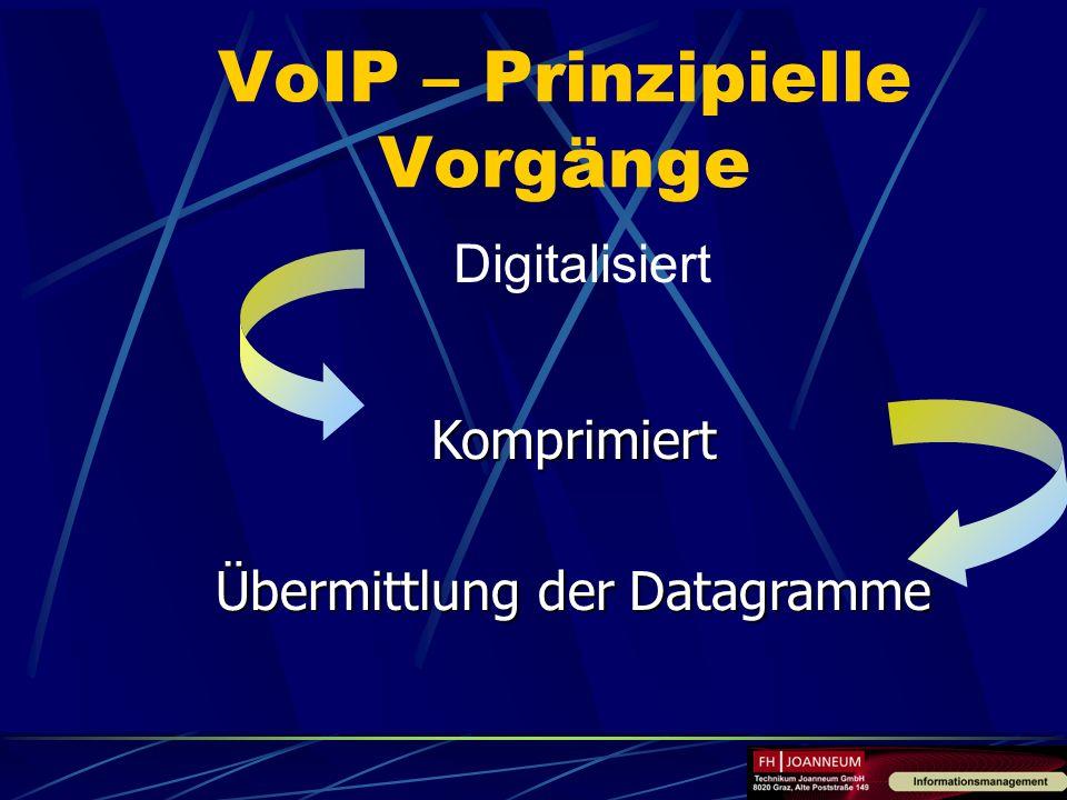 VoIP – Prinzipielle Vorgänge