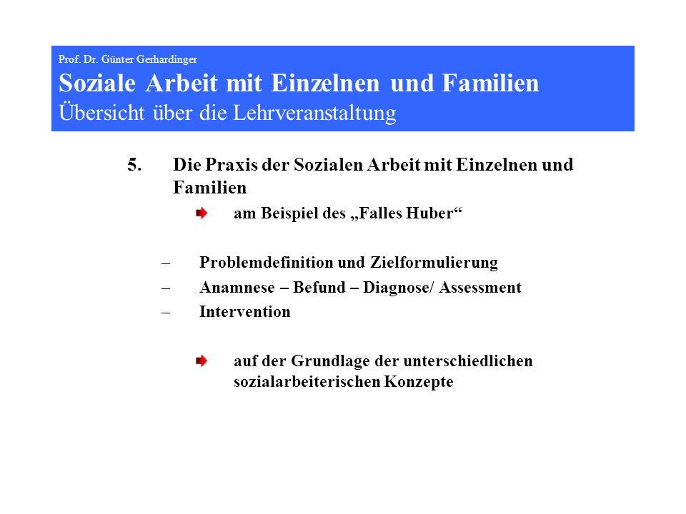 Die Praxis der Sozialen Arbeit mit Einzelnen und Familien