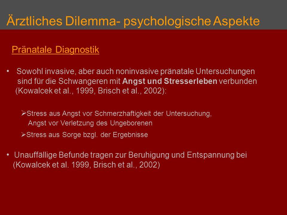 Ärztliches Dilemma- psychologische Aspekte