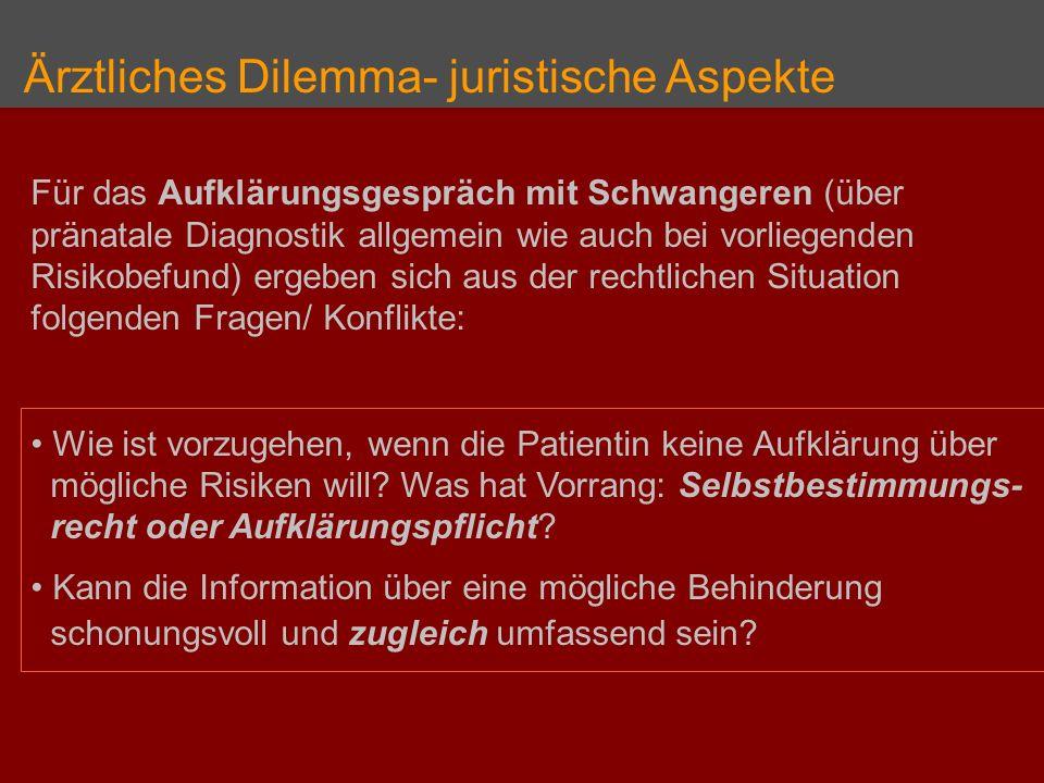 Ärztliches Dilemma- juristische Aspekte