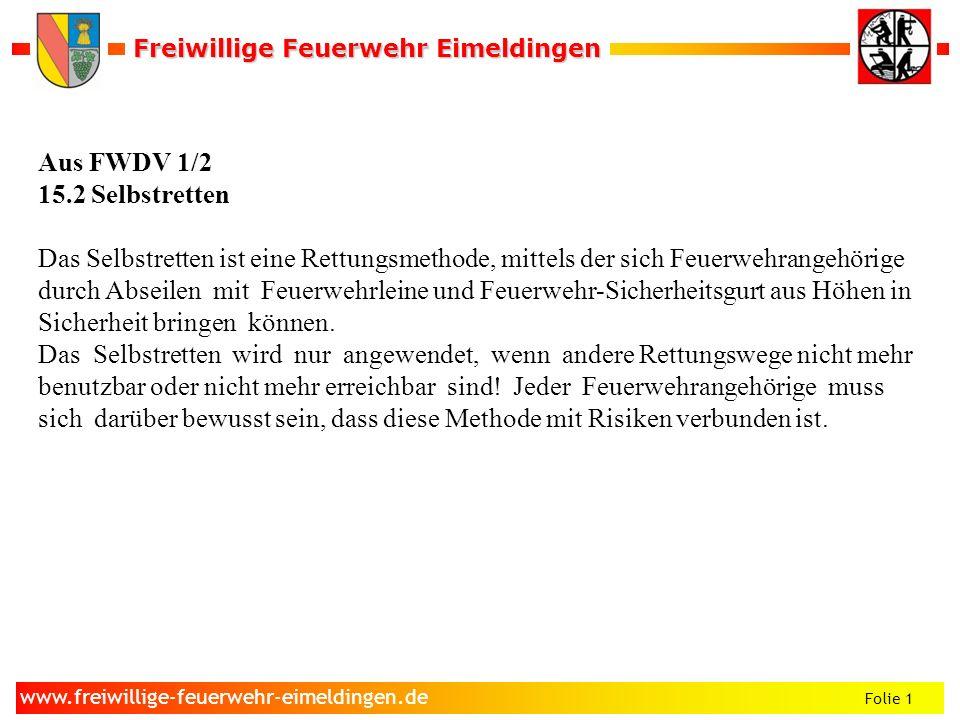 Aus FWDV 1/2 15.2 Selbstretten.