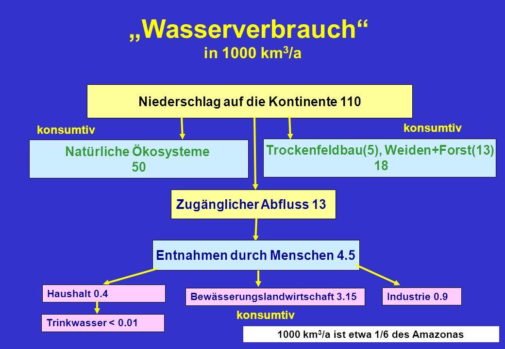 """""""Wasserverbrauch in 1000 km3/a"""