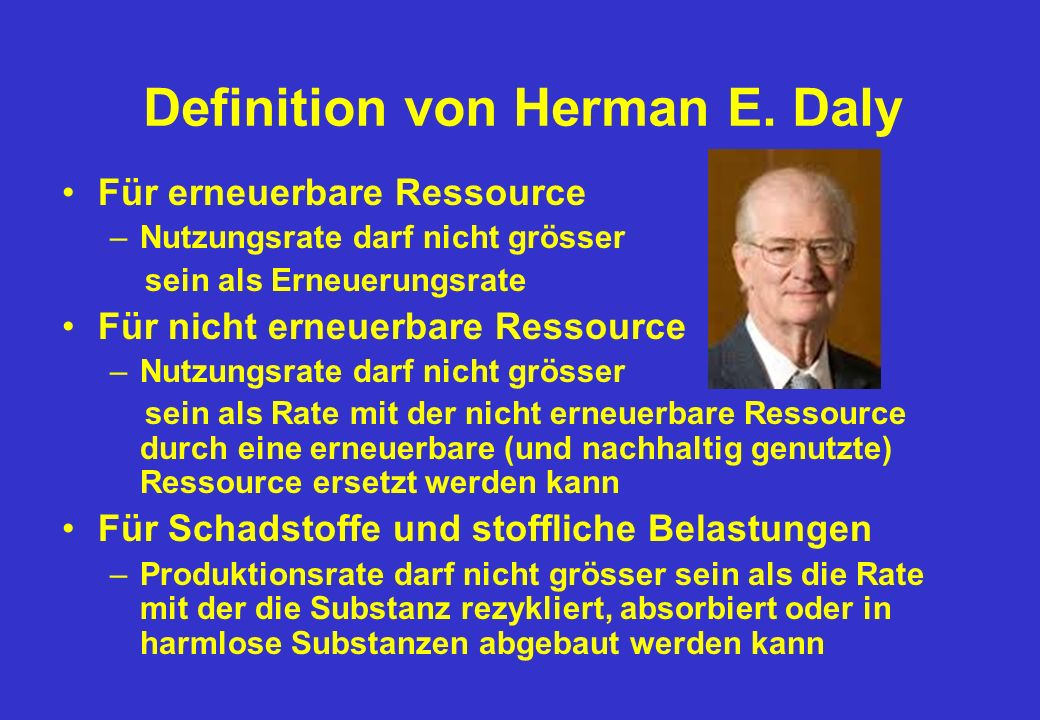 Definition von Herman E. Daly