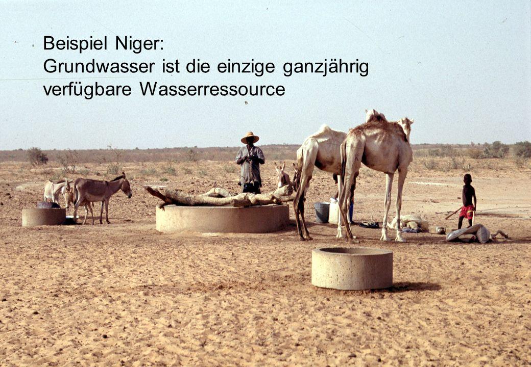 Beispiel Niger: Grundwasser ist die einzige ganzjährig verfügbare Wasserressource