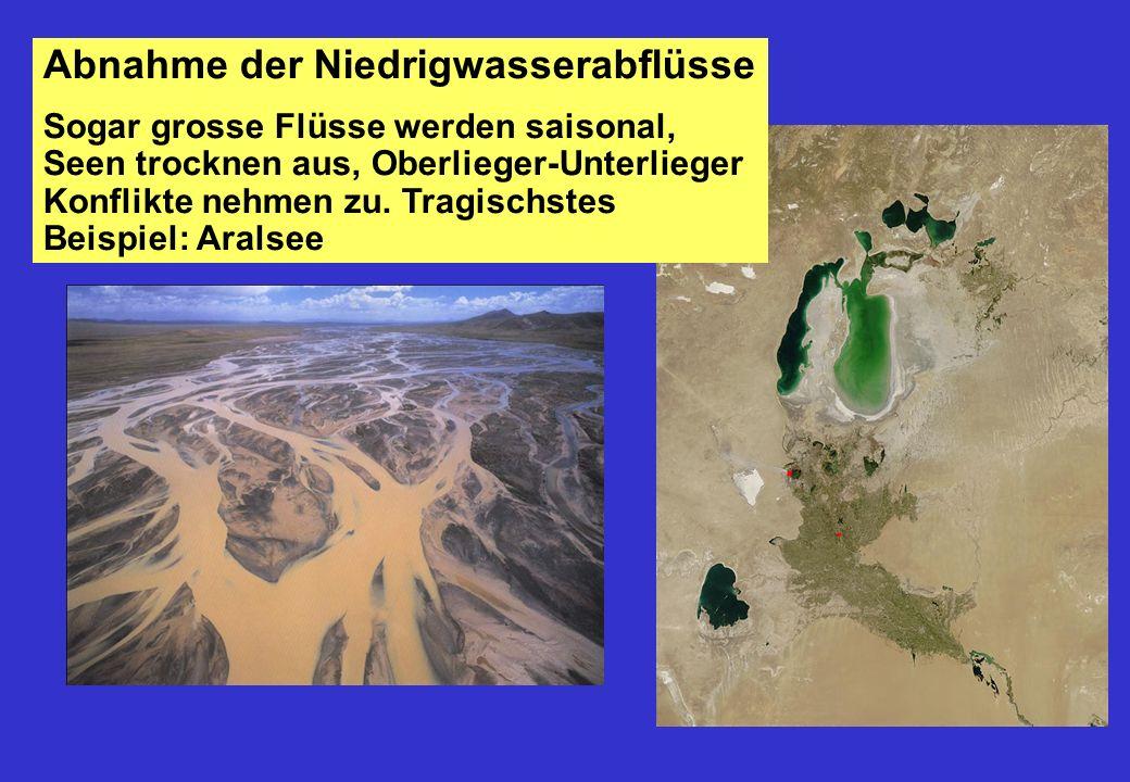 Abnahme der Niedrigwasserabflüsse