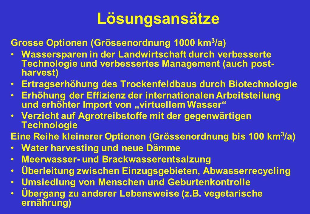 Lösungsansätze Grosse Optionen (Grössenordnung 1000 km3/a)