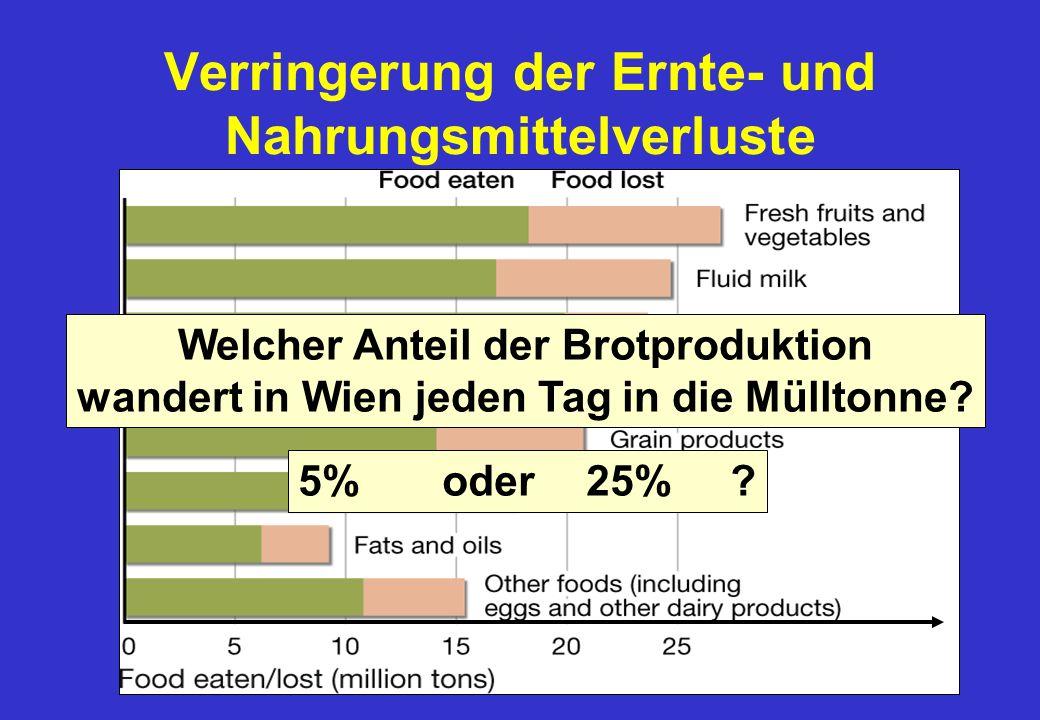 Verringerung der Ernte- und Nahrungsmittelverluste