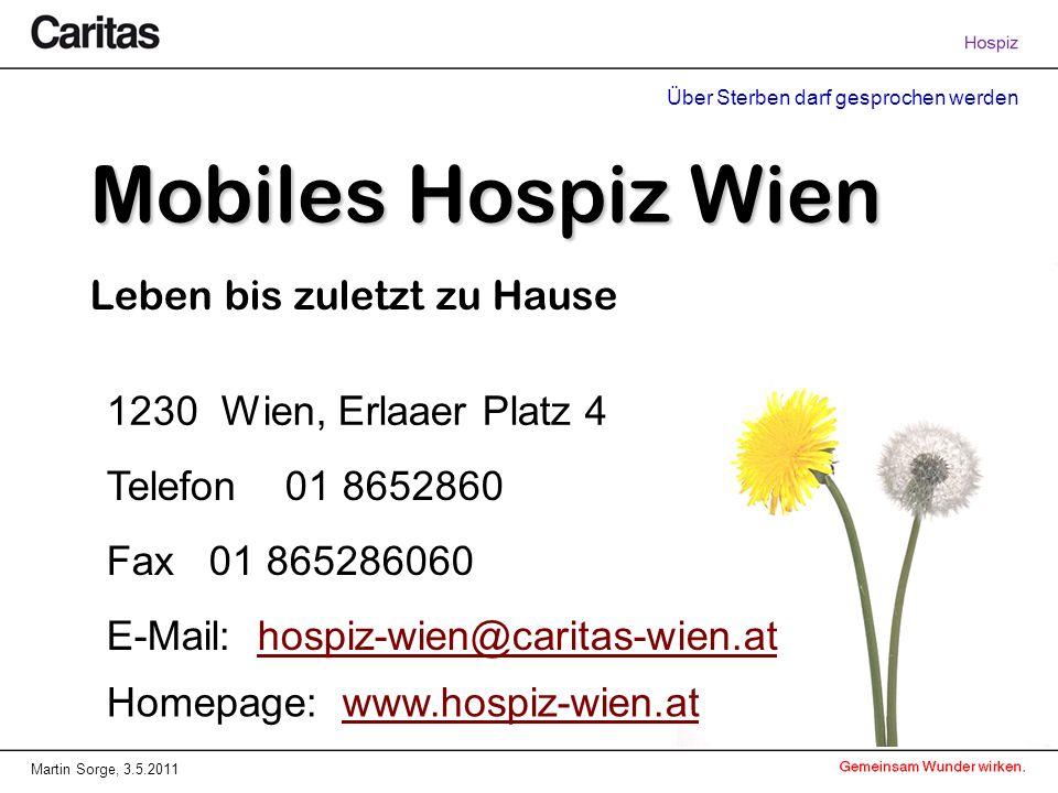 Mobiles Hospiz Wien Leben bis zuletzt zu Hause
