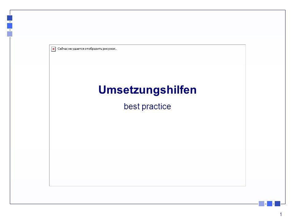 Umsetzungshilfen best practice