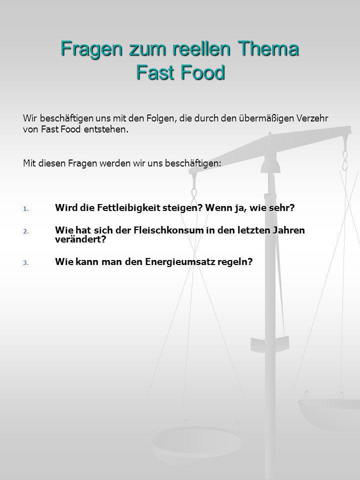 Fragen zum reellen Thema Fast Food