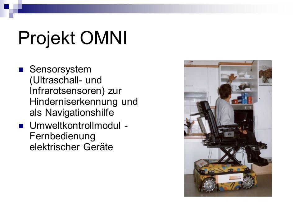 Projekt OMNI Sensorsystem (Ultraschall- und Infrarotsensoren) zur Hinderniserkennung und als Navigationshilfe.