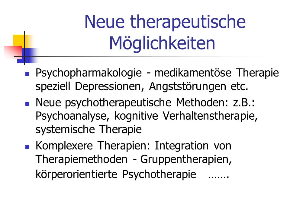 Neue therapeutische Möglichkeiten