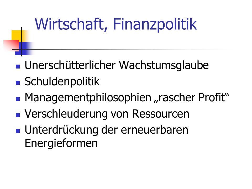 Wirtschaft, Finanzpolitik