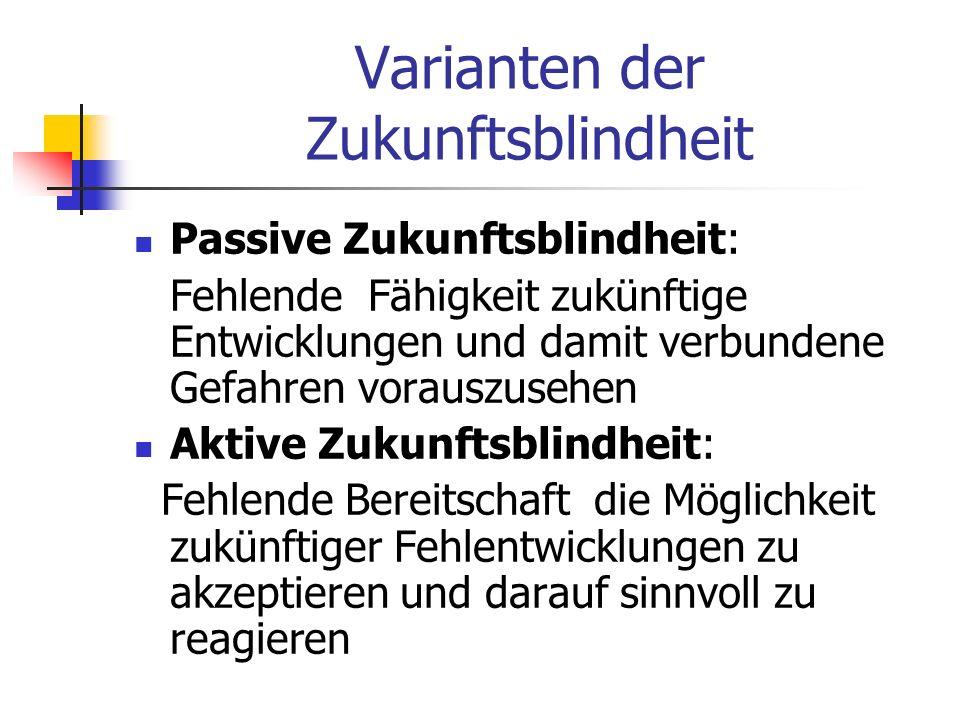 Varianten der Zukunftsblindheit