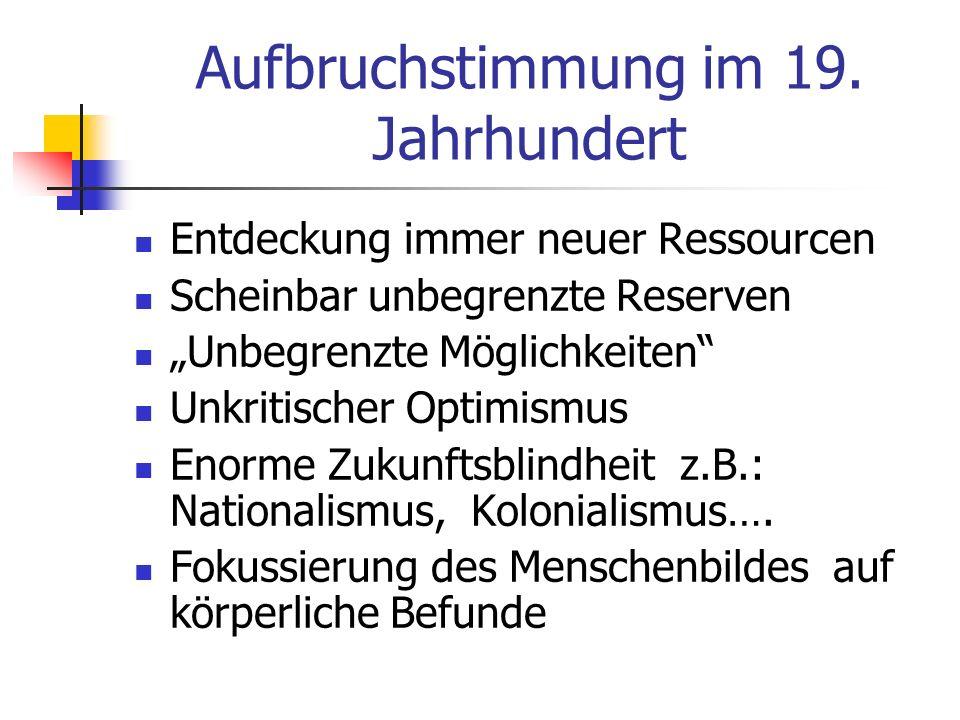 Aufbruchstimmung im 19. Jahrhundert