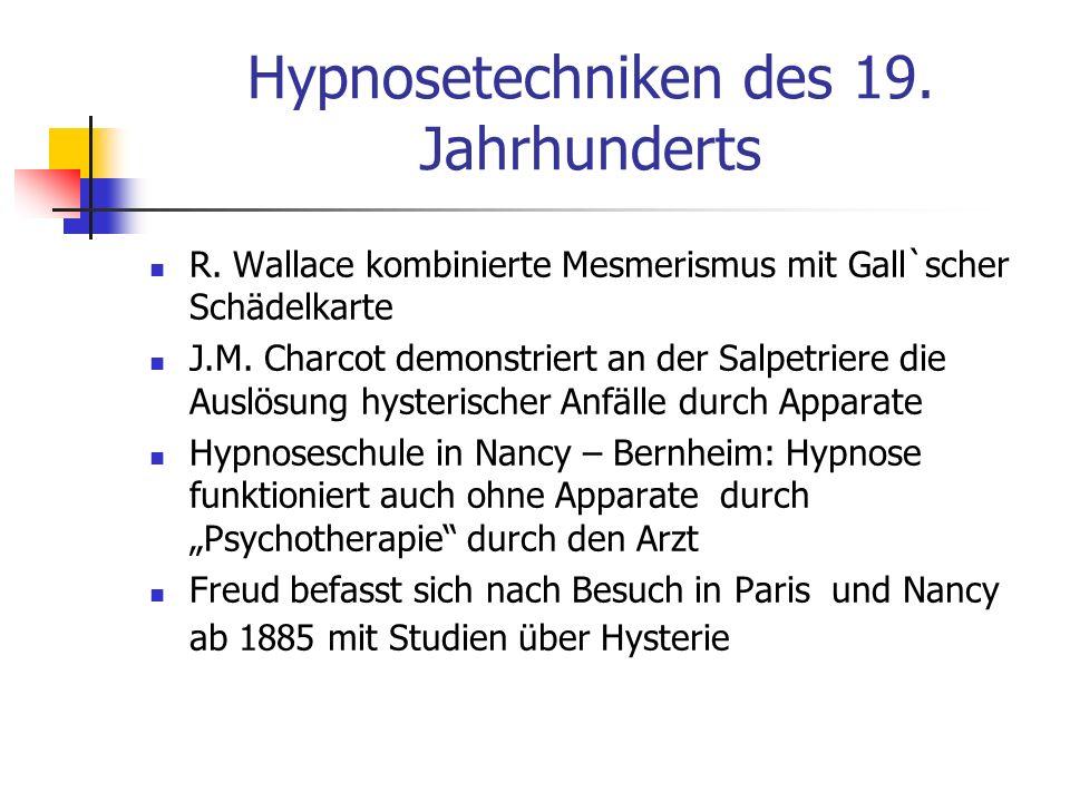 Hypnosetechniken des 19. Jahrhunderts