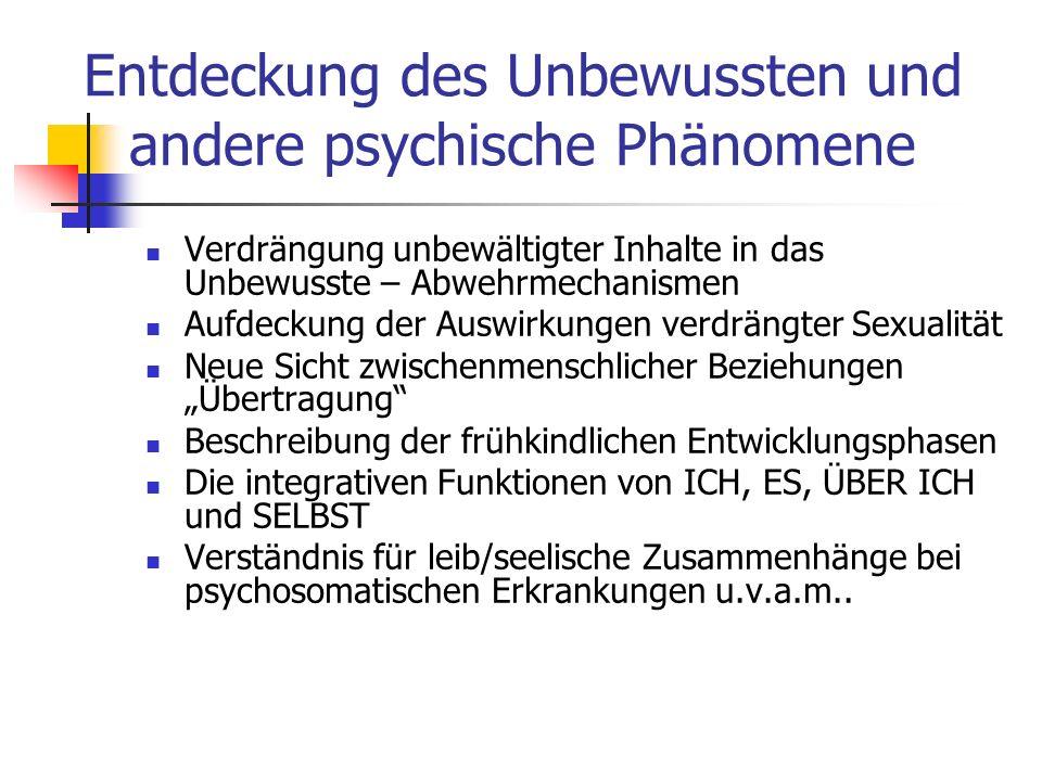Entdeckung des Unbewussten und andere psychische Phänomene