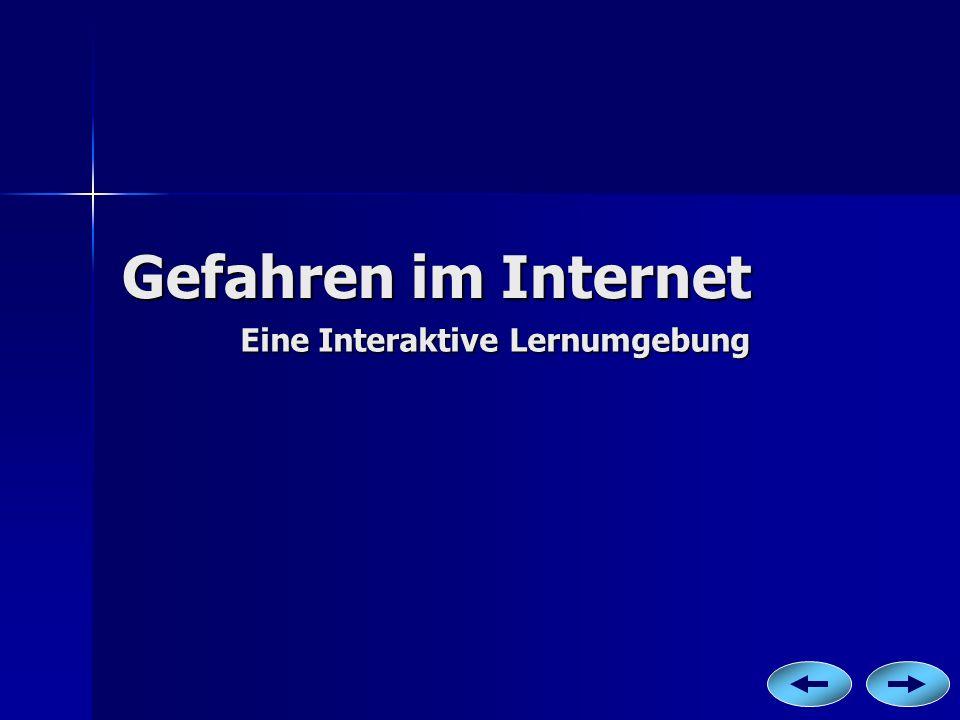 Gefahren im Internet Eine Interaktive Lernumgebung