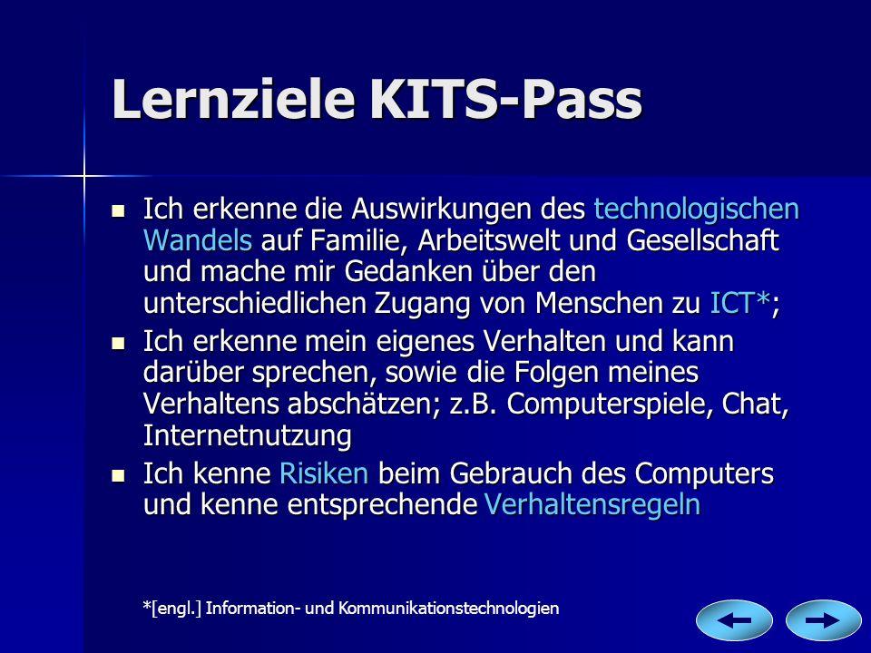 Lernziele KITS-Pass