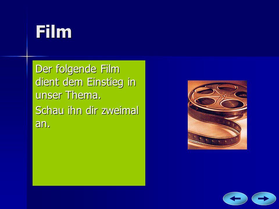Film Der folgende Film dient dem Einstieg in unser Thema.
