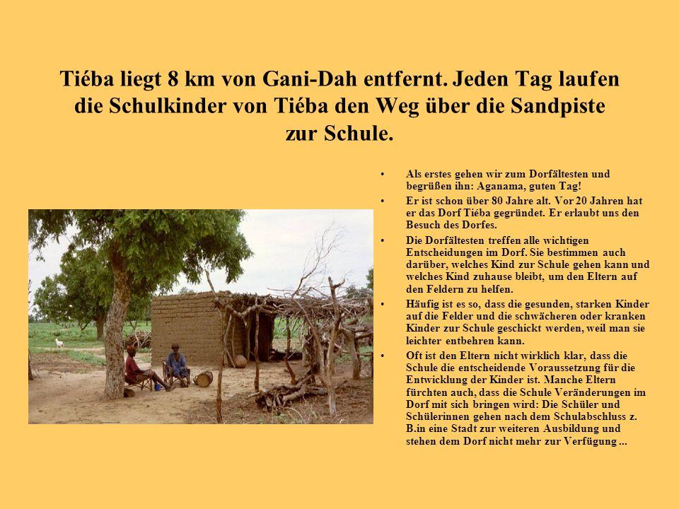 Tiéba liegt 8 km von Gani-Dah entfernt