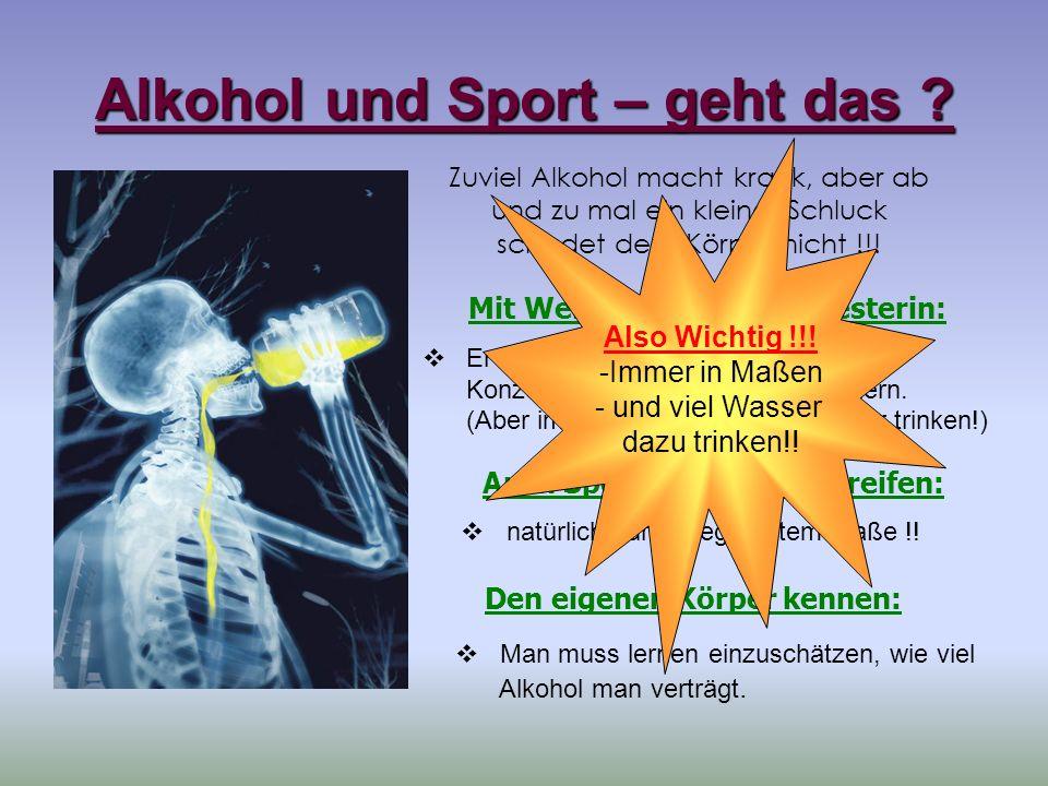 Alkohol und Sport – geht das