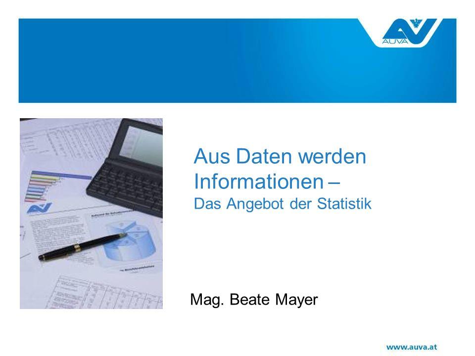 Aus Daten werden Informationen – Das Angebot der Statistik