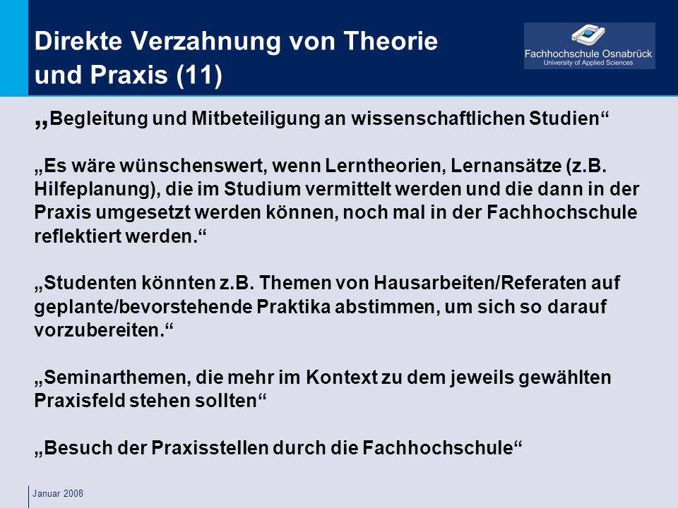 Direkte Verzahnung von Theorie und Praxis (11)