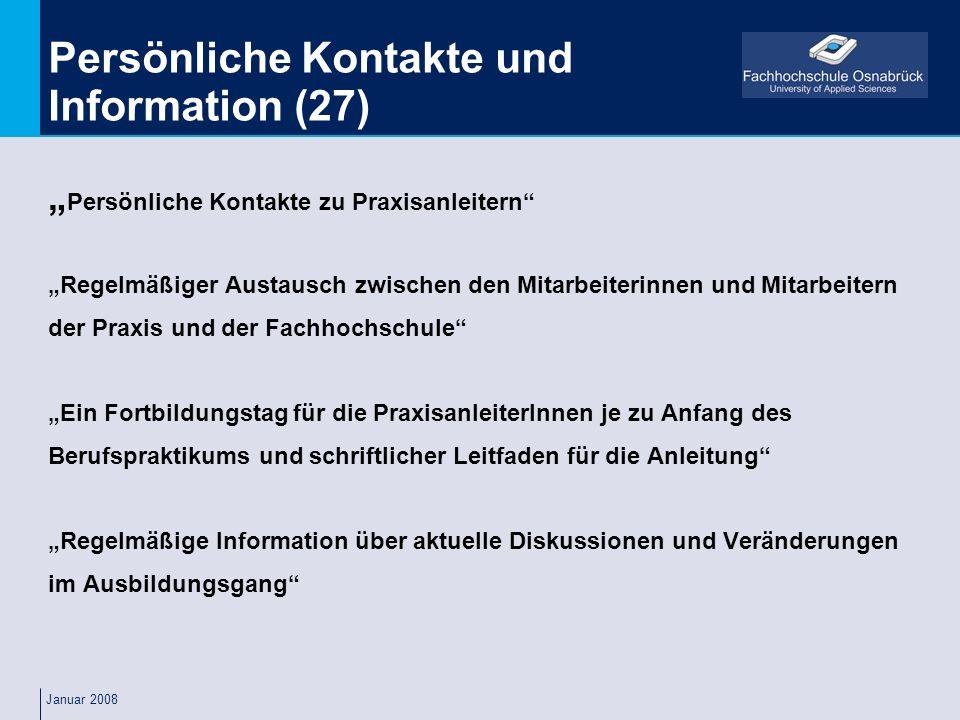 Persönliche Kontakte und Information (27)